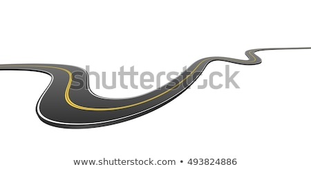 curved road background with white marking Stock photo © SArts