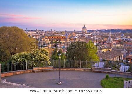 Eternal city of Rome landmarks an rooftops skyline view Stock photo © xbrchx