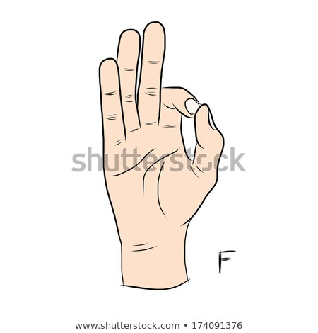 hand demonstrating f in the alphabet of signs stock photo © vladacanon