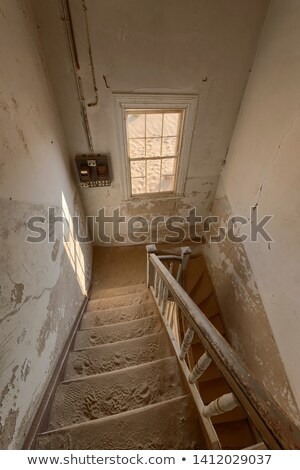staircase in a deserted building namibia stock photo © emiddelkoop