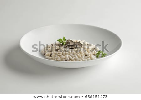 Risotto houten tafel tabel kip plaat Stockfoto © Alex9500
