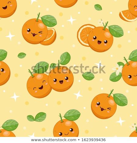 Mandarijn bladeren geïsoleerd witte achtergrond oranje Stockfoto © neirfy