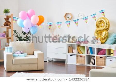 интерьер Жилье современных подготовленный празднование дня рождения мало Сток-фото © pressmaster