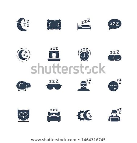 alarm clock related vector glyph icon stock photo © smoki