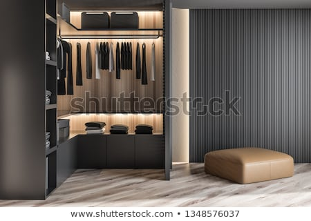 Modern wooden wardrobe Stock photo © magraphics