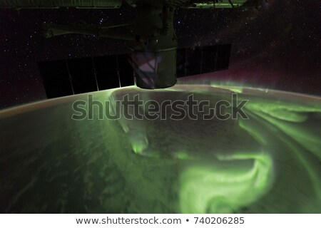 southern aurora lights elements of this image furnished by nasa stock photo © nasa_images