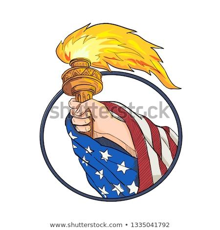 Mano libertad antorcha dibujo color Foto stock © patrimonio