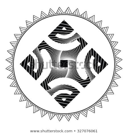 Polynesisch kruis Tribal tattoo stijl illustratie Stockfoto © patrimonio