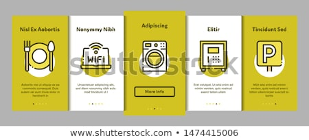 Collection Hostel Elements Vector Onboarding Stock photo © pikepicture