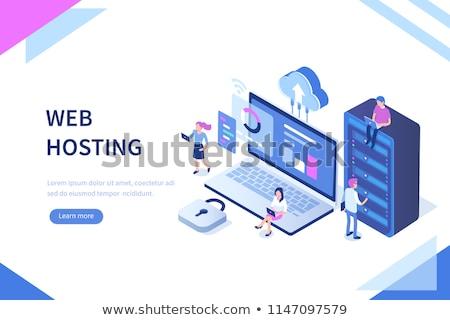 Web hosting isometrica design Foto d'archivio © Genestro