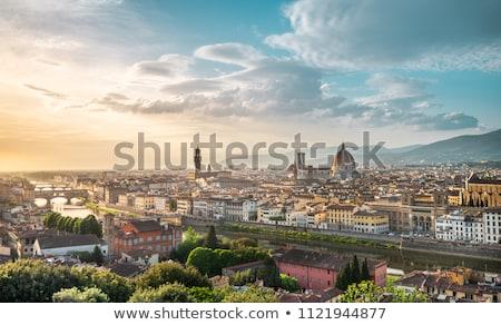 закат · Флоренция · красивой · реке · Италия · hdr - Сток-фото © borisb17