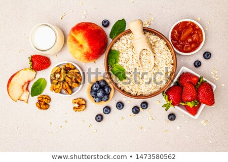 oat flakes with fruit Stock photo © tycoon