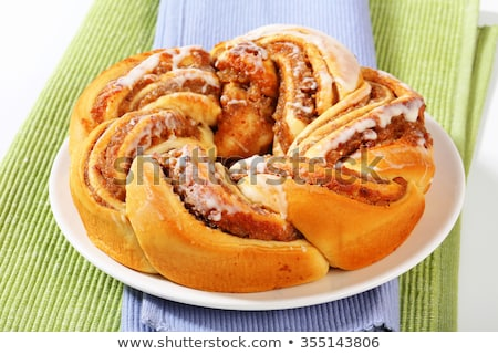 Homemade braided cake with nuts Stock photo © BarbaraNeveu