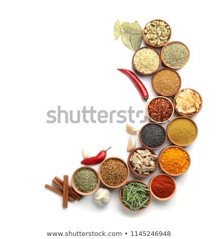 Farklı aromatik baharatlar üst görmek uzay Stok fotoğraf © grafvision