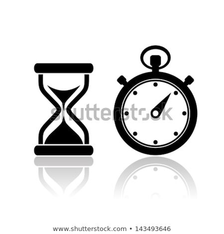 Clock Isolated Icon. Vector Time Measuring Device Stock photo © robuart