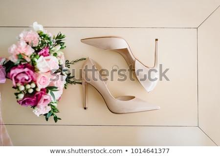 Anéis de casamento noiva sapatos casamento decoração anéis Foto stock © ruslanshramko