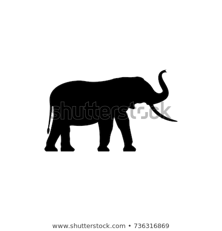 ретро слон силуэта логотип власти знак Сток-фото © barsrsind