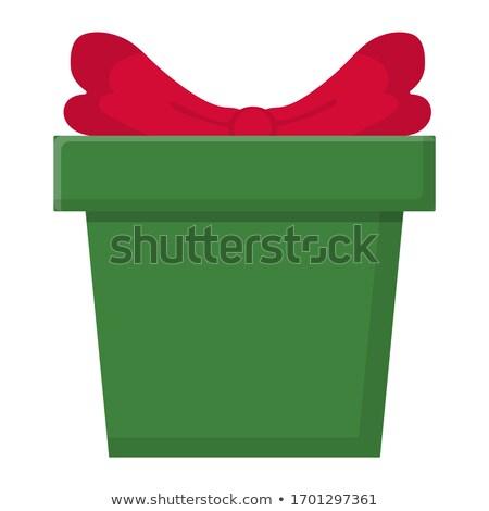 Sjabloon papier geschenk pakket cute Stockfoto © Arkadivna