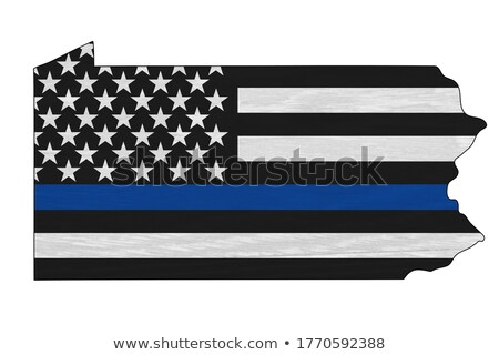 State of Pennsylvania Police Support Flag Illustration Stock photo © enterlinedesign