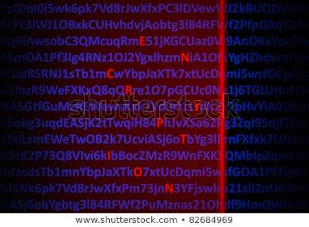 Encryption concept - red decrypted letters Stock photo © nomadsoul1