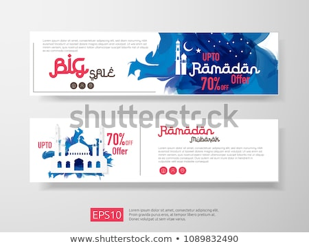 Ramadan sale offer banner set design. Promotion poster, voucher, discount, label, greeting card of R Stock photo © taufik_al_amin