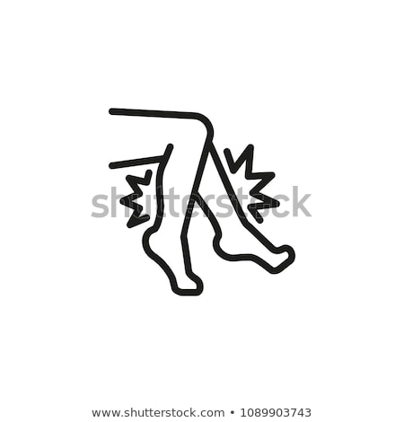 Knee Pain Leg Bones Orthopedic Element Vector Icon Stock photo © pikepicture