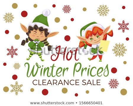 Hot Winter Prices Clearance Sale Elves Children Stock photo © robuart