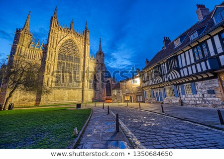 The backside of the York Minster Stock photo © elxeneize