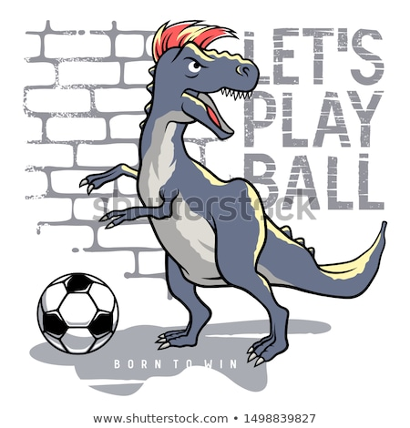 T rex playing soccer Stock photo © orla