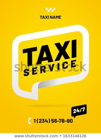 Táxi serviço criador publicidade cartaz vetor Foto stock © pikepicture