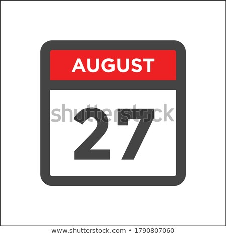 Simple black calendar icon with 27 august date isolated on white Stock photo © evgeny89