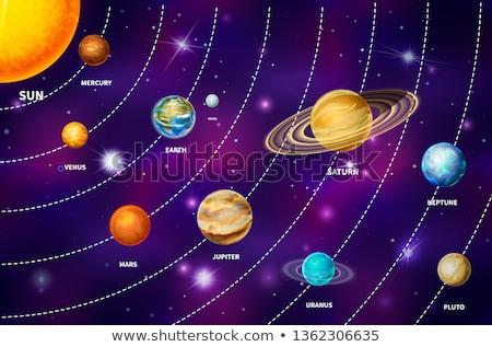 セット 明るい 現実的な 惑星 太陽系 のような ストックフォト © evgeny89