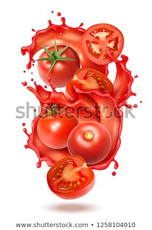 Vector ingesteld tomaat ketchup voedsel glimlach Stockfoto © olllikeballoon