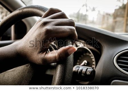 африканских женщину руль вождения автомобилей Сток-фото © AndreyPopov