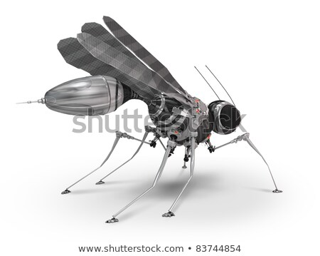 White mechanical insect Stock photo © blackmoon979