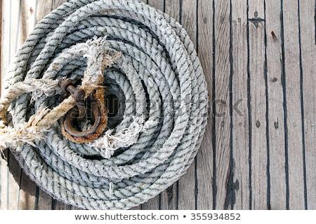 anchored sailing boat Stock photo © pterwort