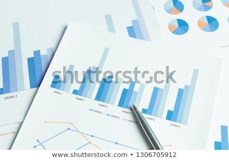 Pénzügyi számok táblázat üzlet toll kék Stock fotó © latent