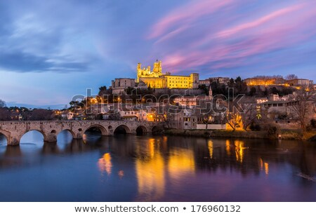 Saint-Nazaire cathedral, Beziers, Languedoc-Roussillon, France Stock photo © phbcz