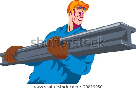 Tradesman holding a girder Stock photo © photography33