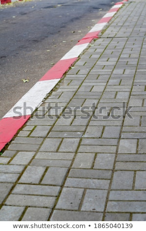 White and red paint on the footpath Stock photo © nuttakit