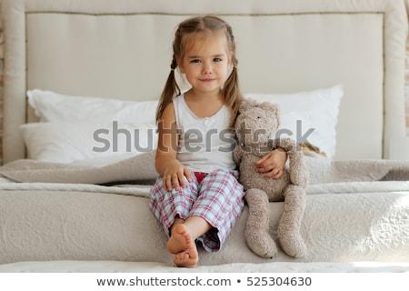 Portret meisje omhoog meisje kind home Stockfoto © photography33