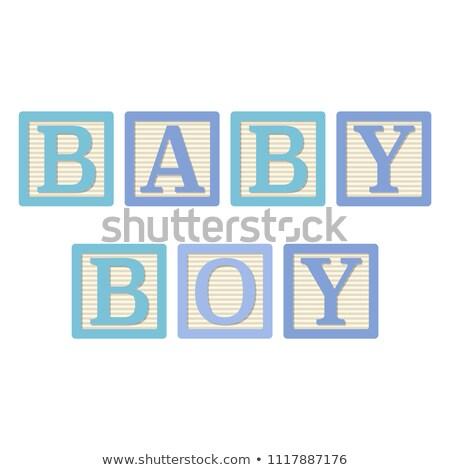 menino · expectante · mamãe · família · bebê · coração - foto stock © alphababy