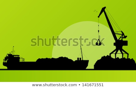 Stock photo: Loading of coal in the port.