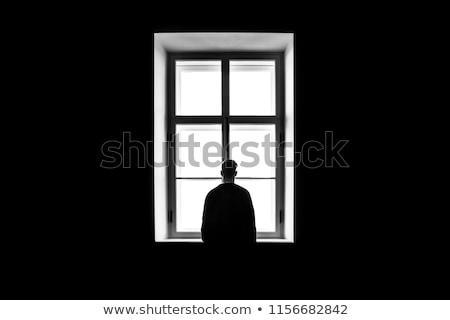 Man behind black frame Stock photo © photography33