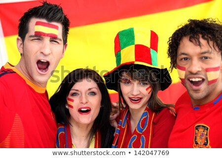Two Spanish couples supporting their national team Stock photo © photography33