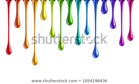 a blue paint drips on white Stock photo © inxti
