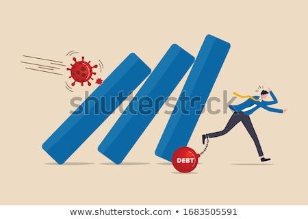 colorido · gráfico · de · barras · ilustración · flecha · negocios - foto stock © vectomart