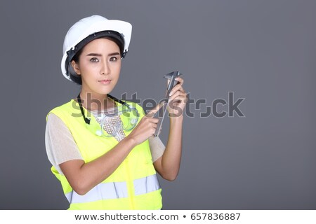 Woman laborer with vernier caliper Stock photo © photography33