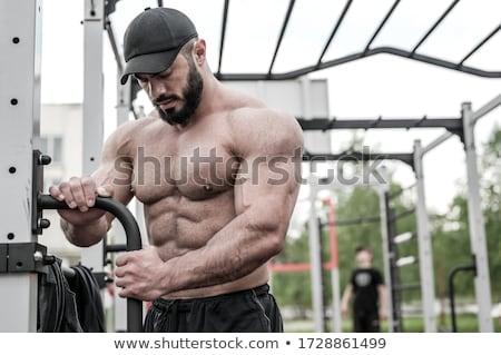 Przystojny muskularny człowiek odizolowany biały ciało Zdjęcia stock © GekaSkr