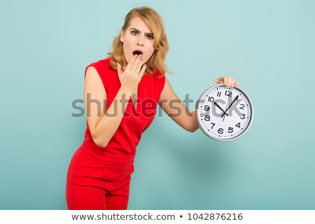 businesswoman shocked by the time stock photo © photography33